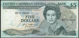 Ost Karibik / East Caribbean P.22a1 5 Dollars (1988-93) (1)
