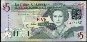 Ost Karibik / East Caribbean P.42d 5 Dollars (2003) (1)
