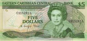 Ost Karibik / East Caribbean P.22l2 5 Dollars (1988-93) (1)
