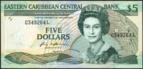 Ost Karibik / East Caribbean P.22l1 5 Dollars (1988-93)