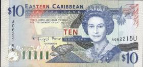 Ost Karibik / East Caribbean P.32u 10 Dollars (1994) (1)