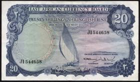 Ost Afrika / East Africa P.47 20 Shillings (1964) (3+)