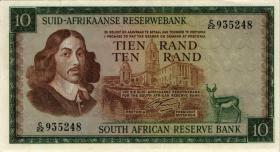 Südafrika / South Africa P.114a 10 Rand (1966) (Afrikaans) (2)