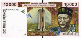 West-Afr.Staaten/West African States P.114Ac 10000 Francs 1995 (1)