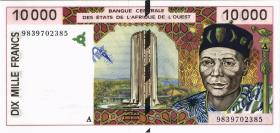 West-Afr.Staaten/West African StatesP.114Ag 10000 Francs 1998 (1)