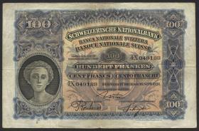 Schweiz / Switzerland P.35b 100 Franken 1926 (3)