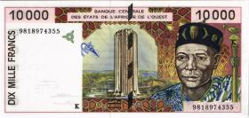 West-Afr.Staaten/West African States P.714Kf 10000 Francs 1998 (1)