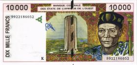 Franz. Westafrika / French West Africa P.714Kh 10000 Francs 1999 (1)
