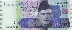 Pakistan P.neu 1000 Rupien 2018 (1)