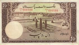 Pakistan P.13 10 Rupien (1951) (3+)