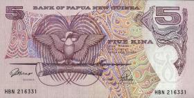 Papua-Neuguinea / Papua New Guinea P.13a 5 Kina (1992) (1)