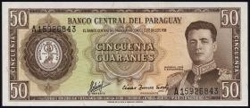 Paraguay P.197b 50 Guaranies L. 1952 (1)