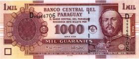 Paraguay P.222b 1000 Guaranies 2005 (1)