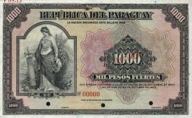 Paraguay P.155s 1000 Pesos L. 1920/1923 Specimen (1)