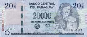 Paraguay P.230b 20000 Guaranies 2009 (1)