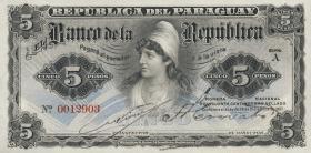 Paraguay P.156 5 Pesos L. 1907 (1)