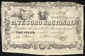 Paraguay P.013 3 Pesos (1860) (5)