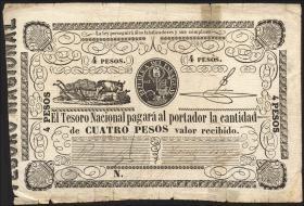 Paraguay P.016 4 Pesos (1862) (4)