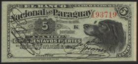 Paraguay P.S141 5 Centaavos 1886 (1)