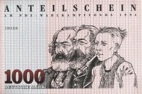 PDS - Wahlkampffonds 1994 1000 DM (1)