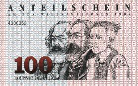 PDS - Wahlkampffonds 1994 100 DM (1)