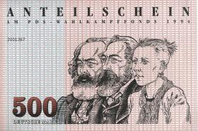 PDS - Wahlkampffonds 1994 500 DM (1)