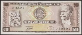 Peru P.104b 500 Soles de Oro 1971 (1-)