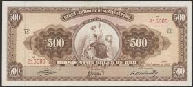 Peru P.087 500 Soles de Oro 1962  (2)