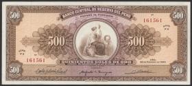Peru P.091 500 Soles de Oro 1965 (2)