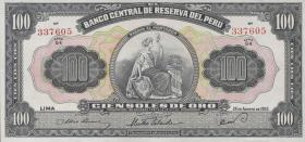 Peru P.079c 100 Soles 1961 (2/1)