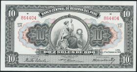 Peru P.071 10 Soles 1955 (1)