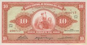 Peru P.088 10 Soles de Oro 1965 (2)