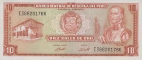 Peru P.100c 10 Soles de Oro 1972-74 (1)