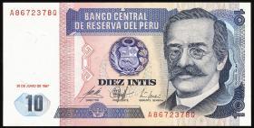 Peru P.129 10 Intis 1987 (1)