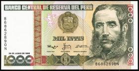 Peru P.136b 1000 Intis 1988 (1)