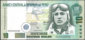Peru P.156 10 Nuevos Soles 1994 (1)