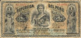 Peru P.001A 1 Sol 1881 mit Stempel (4)