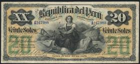 Peru P.006 20 Soles 1879 (3)