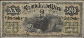 Peru P.007a 20 Soles 1879 (3)