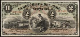 Peru P.002 2 Soles 1879 (1)