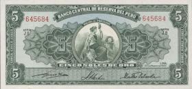 Peru P.070 5 Soles 1952 (1)