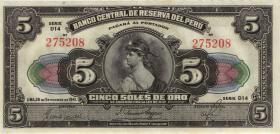 Peru P.066A 5 Soles 1941 (1/1-)