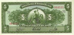 Peru P.083 5 Soles de Oro 1966 (1)