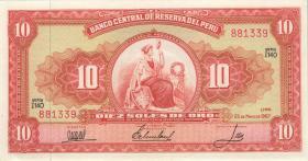 Peru P.084 10 Soles de Oro 1967 (1)