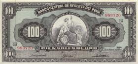 Peru P.086 100 Soles de Oro 1964 (2+)