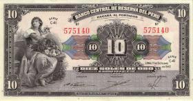 Peru P.067A 10 Soles 1945 (1)