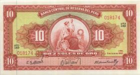 Peru P.082A 10 Soles 1960 (1)