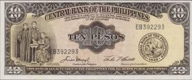Philippinen / Philippines P.136e  10 Pesos (1949-69) (1)