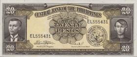 Philippinen / Philippines P.137e 20 Pesos (1949-69) (1)
