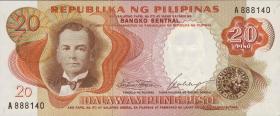 Philippinen / Philippines P.145a 20 Piso (1969) (1)